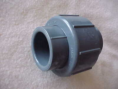 Spears Schedule 80 Gray Union Pvc Socket To Socket  1 14 Pipe Size