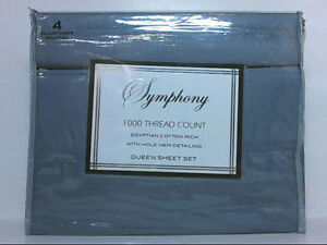 NEW Symphony 1000TC Egyptian Cotton 6pc Queen Sheet Set