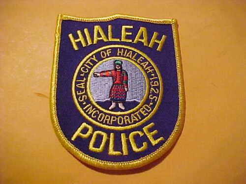 HIALEAH FLORIDA POLICE PATCH SHOULDER SIZE UNUSED