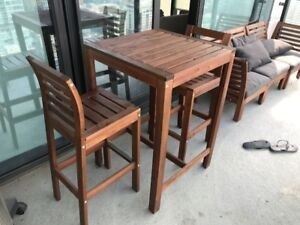 Ikea outdoor Bar table and stools