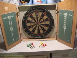 Dart Board with 10 Darts