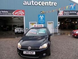 VOLKSWAGEN GOLF 2.0 GT TDI 3d 138 BHP turbo diesel 6 speed (black) 2010