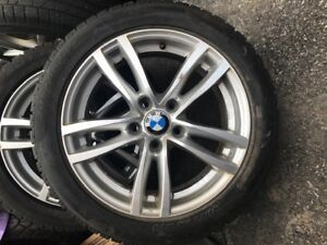 $$$$$ Wheels and Pirelli Sottozero runflat winter tires for BMW.
