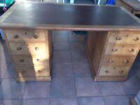 Antique Oak University Desk