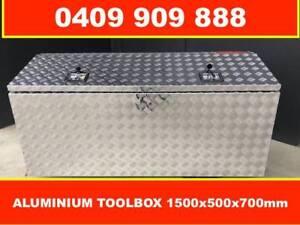 TOOLBOX ALUMINIUM 1500 X 500 X700MM, TOP OPEN, UTE TRUCK TRAILER