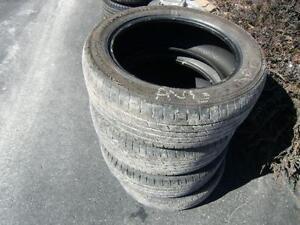 4 pneus 225/55/18 été