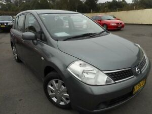 2008 Nissan Tiida C11 MY07 ST Grey 4 Speed Automatic Hatchback Edgeworth Lake Macquarie Area Preview