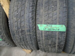 PAIR USED ALL SEASON TIRES LT/ 275-70-18 { TOYO } R,H AUTO
