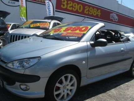 2003 Peugeot 206 T1 MY03 CC Blue 5 Speed Manual Cabriolet Underwood Logan Area Preview