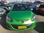 2010 Mazda 2 DE Neo Green 5 Speed Manual Hatchback Cardiff Lake Macquarie Area Preview
