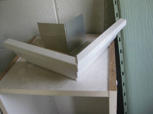"aluminum gutter 5"" outside corner box mitre"