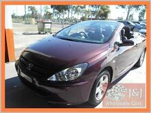 2004 Peugeot 307 CC Dynamic Purple 5 Speed Manual Cabriolet Warwick Farm Liverpool Area Preview