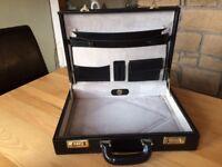 REDUCED PRICE Vintage Franzen Presto Leather Briefcase European Black - will accept nearest offer