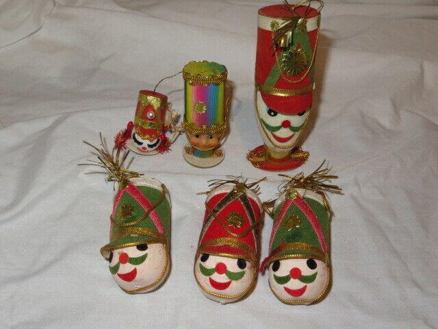 6 Vt Soldier/Drum Major Heads Christmas Ornament Flocked 1 Iridescent/Lenticular
