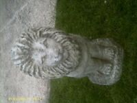 Concrete Heavy Lion Garden Ornament