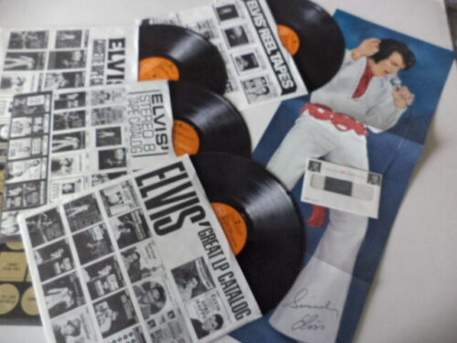 """RARE! """"ELVIS THE OTHER SIDES""""  Vol. 2 with Poster & Elvis Clothing Fabric Swatch"""