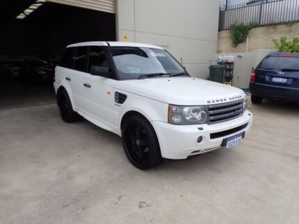 2007 Land Rover Range Rover Sport L320 08MY TDV6 White 6 Speed Sports Automatic Wagon