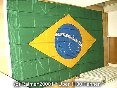 Fahnen Flagge Brasilien - 1 - 150 x 250 cm