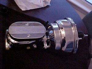 "Single Diaphragm 7"" Universal Chrome BrakeBooster/MasterCylinder"