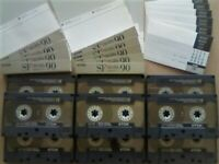 JL £23 & FP&P 9x TDK SF 90 SUPER FIDELITY CHROME CASSETTE TAPES 1990-1991 JOB LOT OR SOLO'S