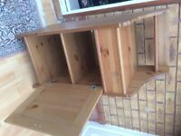 Pine Ikea bathroom cabinet