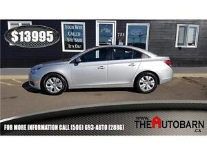 2014 CHEVROLET CRUZE LT SEDAN = CRUISE, BLUETOOTH - ONLY 49366km