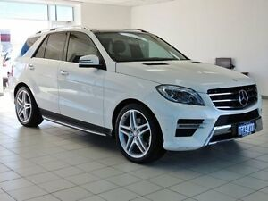 2015 Mercedes-Benz ML 166 MY15 350 CDI Bluetec (4x4) White 7 Speed Automatic Wagon Morley Bayswater Area Preview