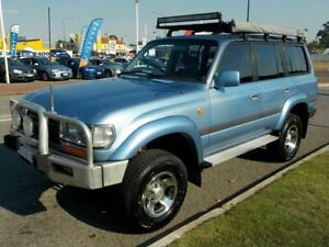 1996 Toyota Landcruiser GXL (4x4) Blue 4 Speed Automatic 4x4 Wagon