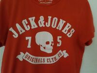 Mens Jack Jones Casual T-shirt - Red & White - Size Small