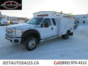 2011 Ford Super Duty F-450 DRW XLT 4X4 Gas Service Truck