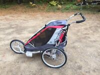 Awesome Thule Chariot 3 wheel jogging baby stroller