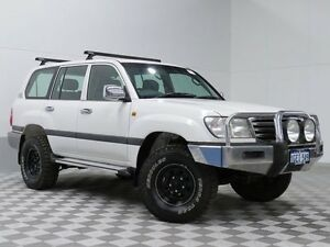 2003 Toyota Landcruiser UZJ100R GXL (4x4) White 5 Speed Manual Wagon Jandakot Cockburn Area Preview