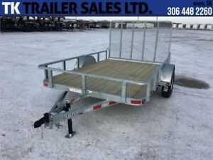 "Galvanized 83"" x 12' Single Axle Utility Trailer"