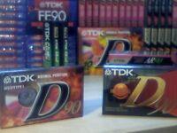 NEW SEALED TDK D 90 CASSETTE TAPES. 85p EACH.