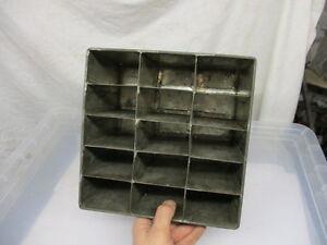 Vintage Metal Bottle Holder Crate Box Rack Rustic Iron Display Old Salvaged
