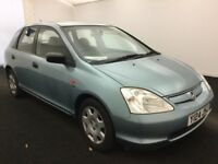 2001 honda civic 1.6 automatic VTEC se 8 moth mot,2 keys-full history