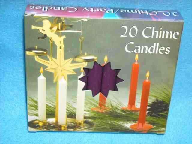20 pk Biedermann & Sons European-Made PURPLE Angel Chime Ritual Spell Candles