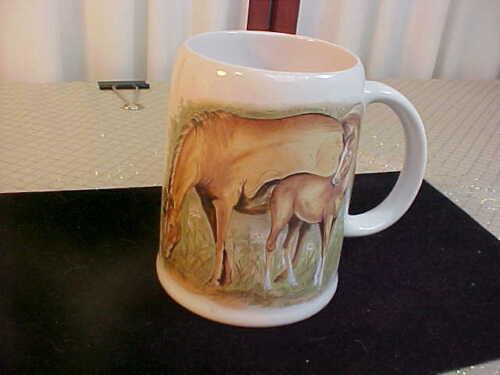 1983 Adorable Enesco Horse Designed Handled Coffee Mug