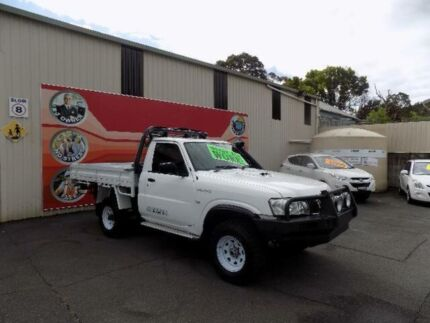 2010 Nissan Patrol GU MY08 DX (4x4) White 5 Speed Manual Cab Chassis West Gosford Gosford Area Preview