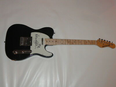 THE PSYCHEDELIC FURS SIGNED BLACK ELECTRIC GUITAR RICHARD BUTLER TIM JSA COA