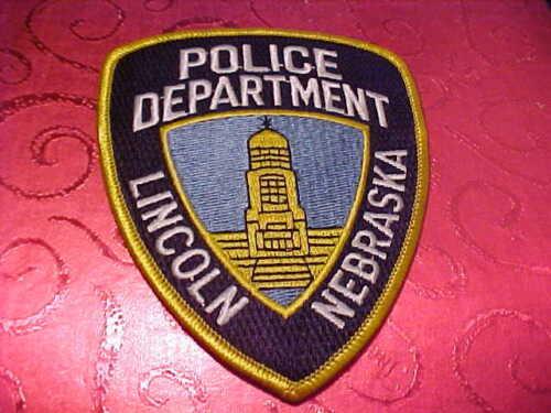 LINCOLN NEBRASKA POLICE PATCH SHOULDER SIZE UNUSED