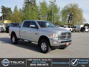 2011 DODGE RAM 3500 LARAMIE CREW CAB SHORTBOX 4X4 LEATHER DIESEL