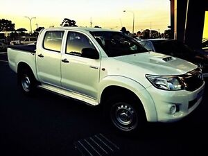 2013 Toyota Hilux KUN26R MY12 SR (4x4) White 4 Speed Automatic Dual Cab Pick-up Beckenham Gosnells Area Preview