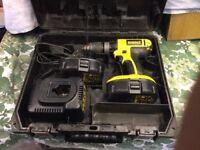 DeWalt 18Volt Drill 2 good batteries & charger
