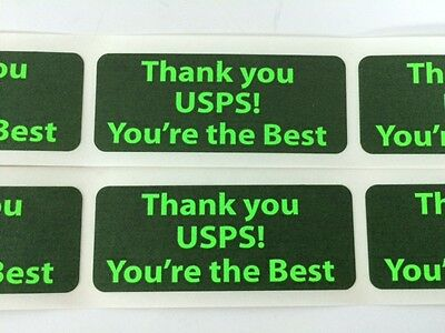 100 1 X 2.5 Thank You Usps Youre The Best Shipping Labels Stickers Green Neon