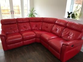 Beautiful 5 Seater Electric Double Recliner Made of Italian Leather