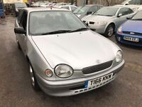 Toyota Corolla, starts and drives well, MOT until January 2017, does export, car located in Gravesen