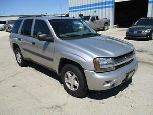 2005 CHEVROLET TRAILBLAZER LS 4X4, SAFETY&WARRANTY $5,950
