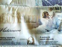 Simmons Beauty Sleep Platinum double mattress  & box spring