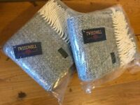 2x Tweedmill Pure Wool Scarves (in grey) BRAND NEW WITH TAGS